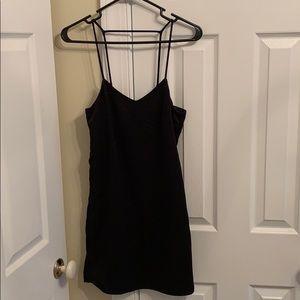 H&M little black satin dress size 2 NWT